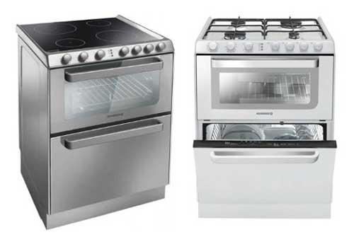 Cuisinière lave-vaisselle : trois fonctions combinées