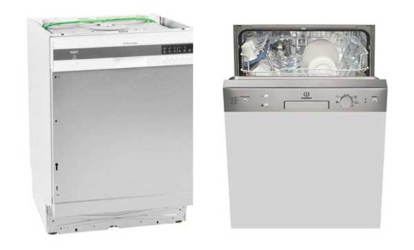 Lave-vaisselle encastrable : sans et avec façade